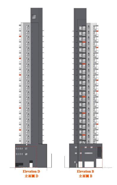 AVA 62立面圖B及D