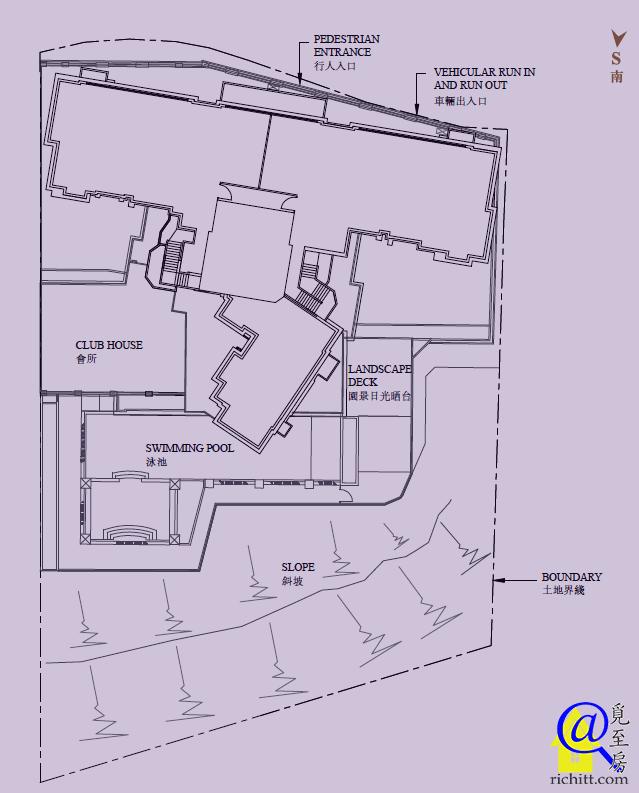 Cluny Park布局圖