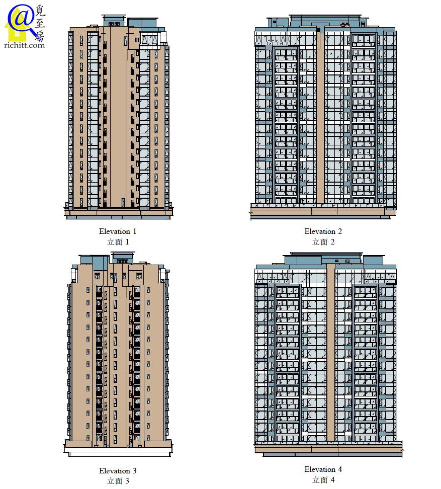 PARK-YOHO-VENEZIA第2A及2B座立面圖