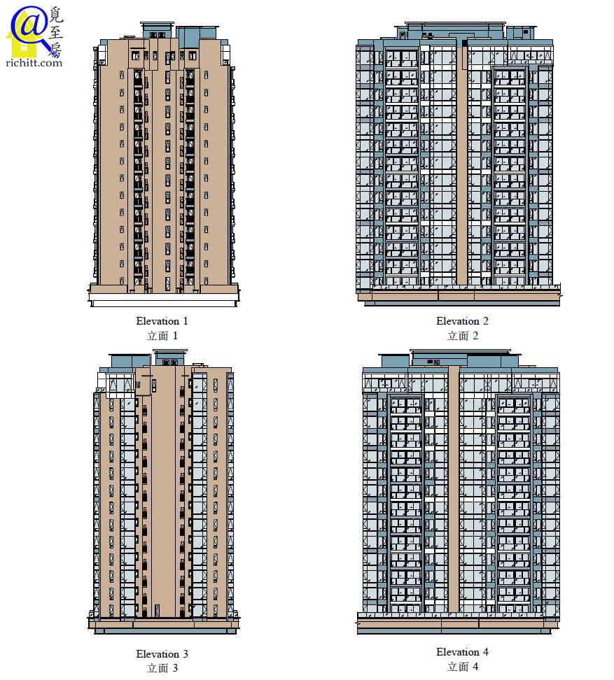 PARK-YOHO-VENEZIA第3A及3B座立面圖