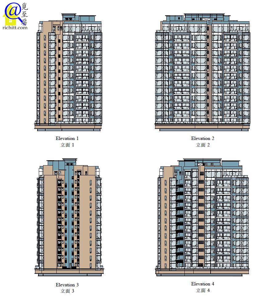 PARK-YOHO-VENEZIA第5A及5B座立面圖