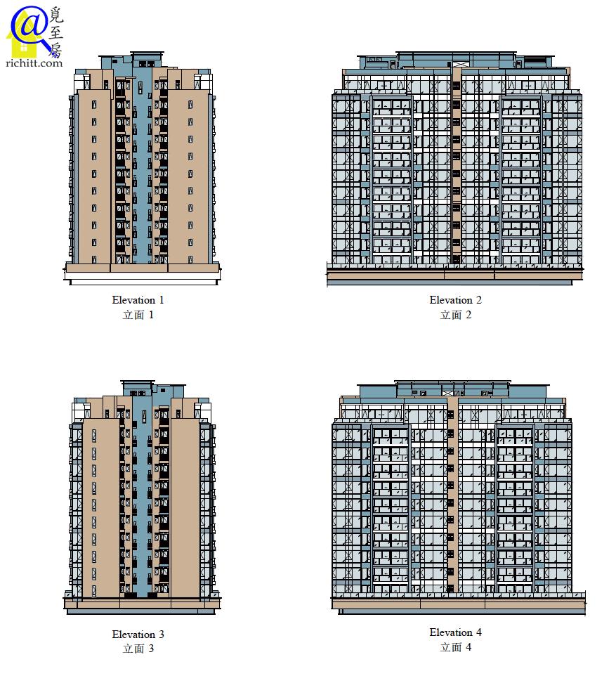 PARK-YOHO-VENEZIA第6A及6B座立面圖