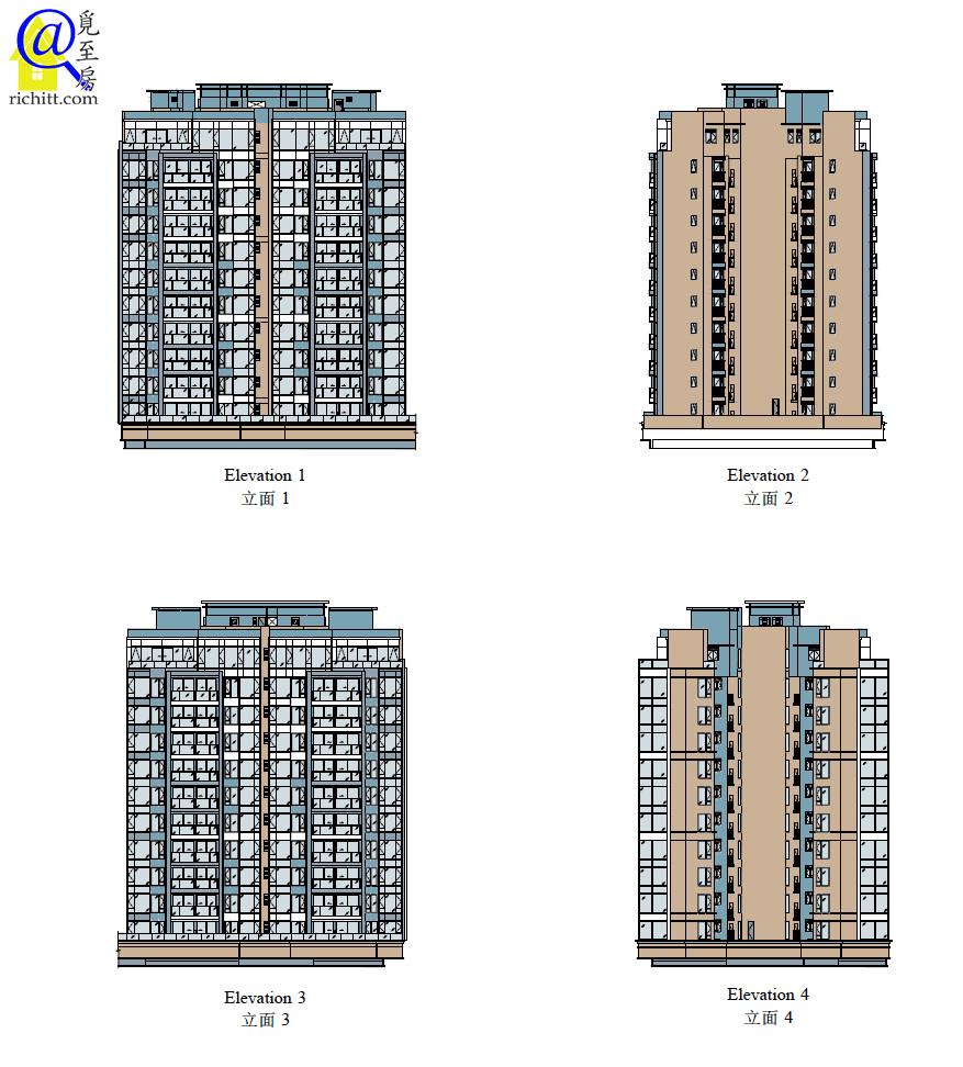 PARK-YOHO-VENEZIA第7A及7B座立面圖