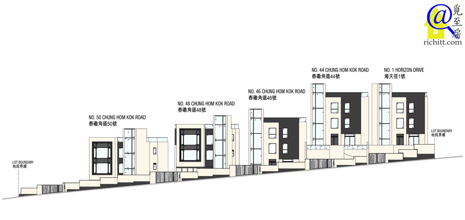舂磡角道洋房項目立面圖1