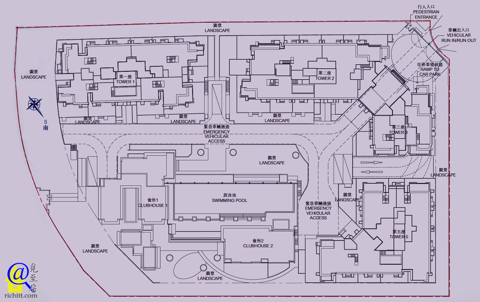 逸瓏園布局圖