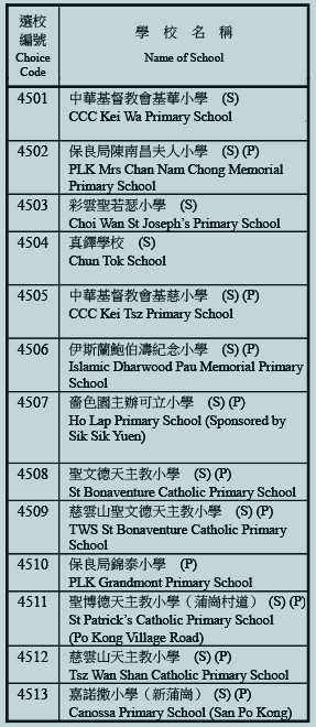 小學45校網學校清單