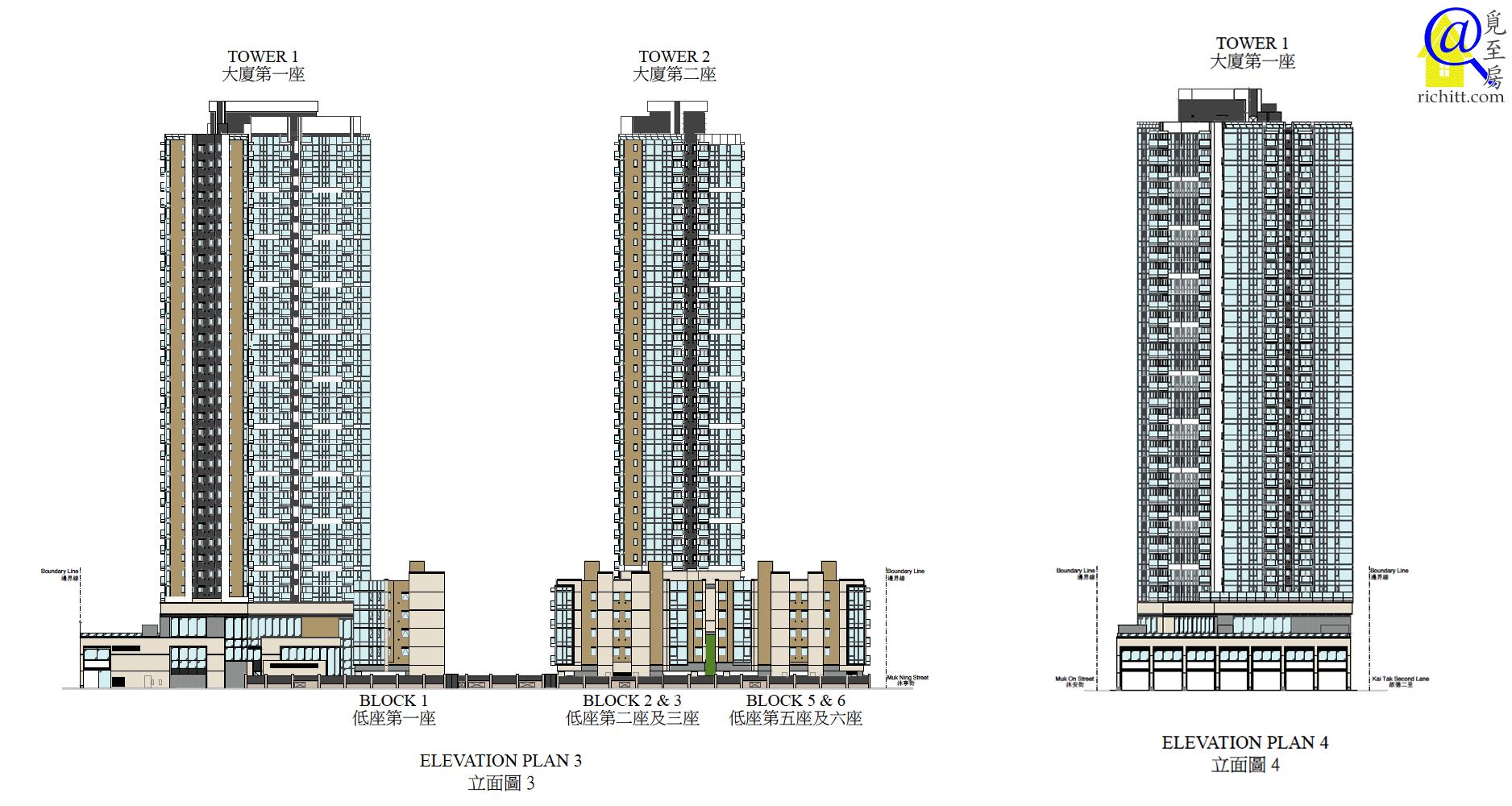 啟德1號立面圖3及4