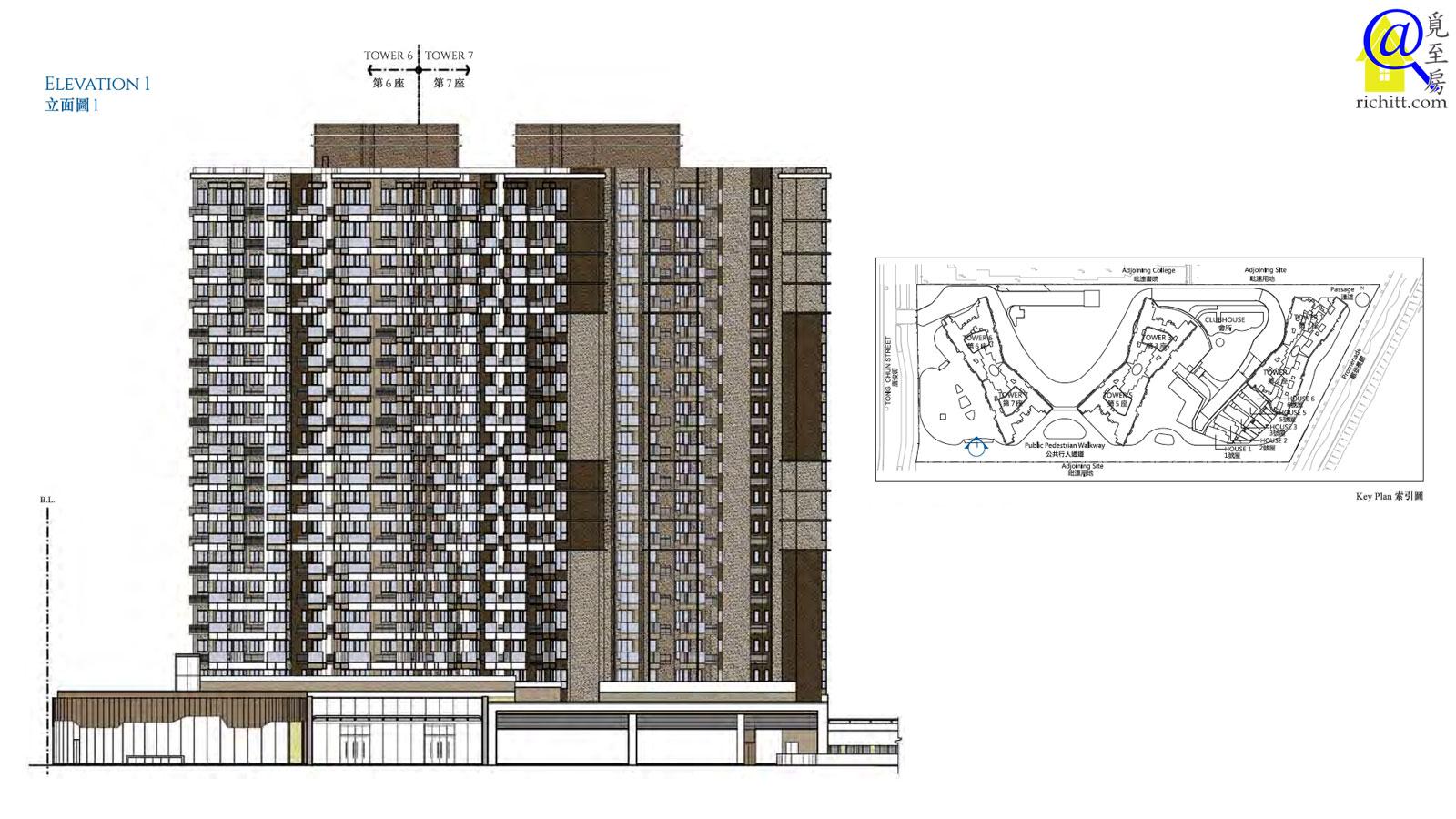 海翩滙住宅大廈立面圖1