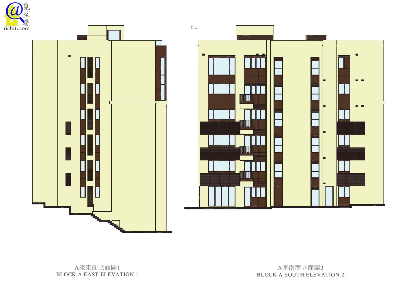 339 TAI HANG ROAD立面圖1和2