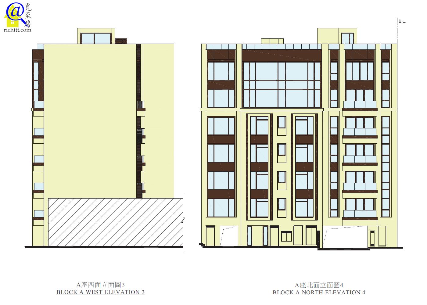 339 TAI HANG ROAD立面圖3和4