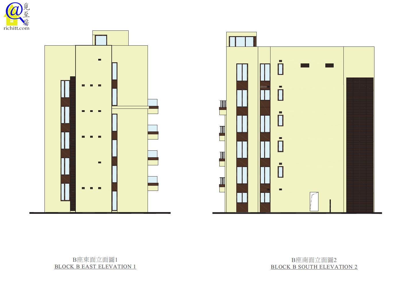 339 TAI HANG ROAD-B座立面圖1和2