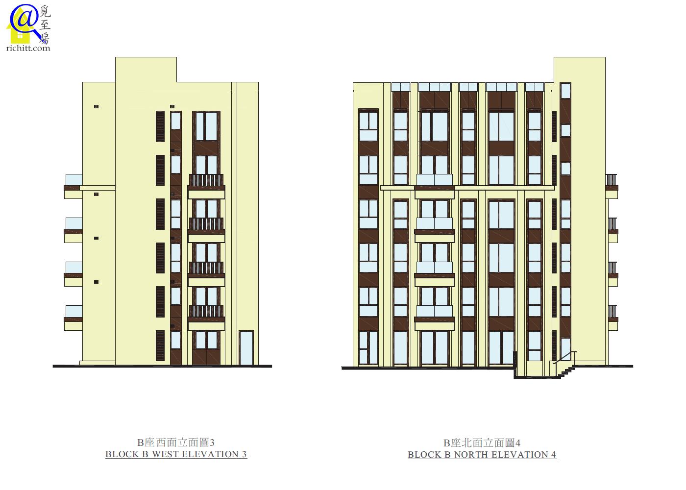 339 TAI HANG ROAD-B座立面圖3和4