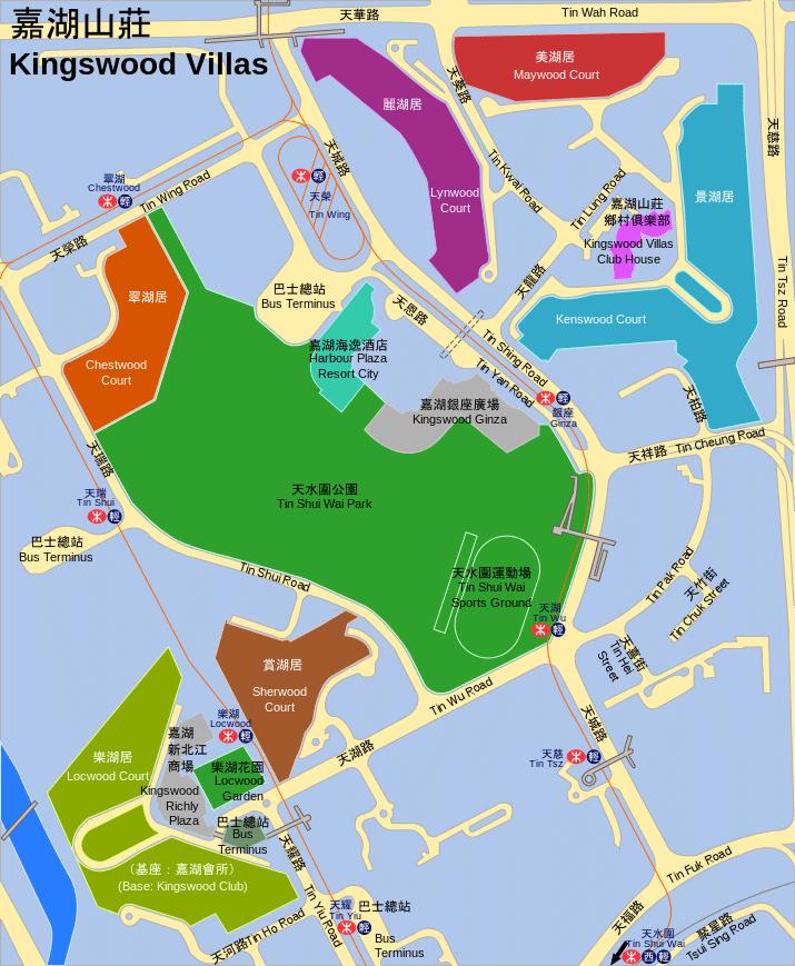 嘉湖山莊各期屋苑位置圖- moonian作品 (維基百科)