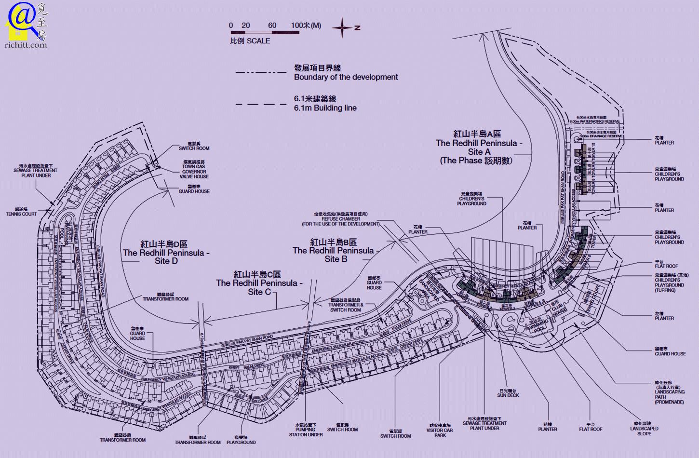 紅山半島布局圖