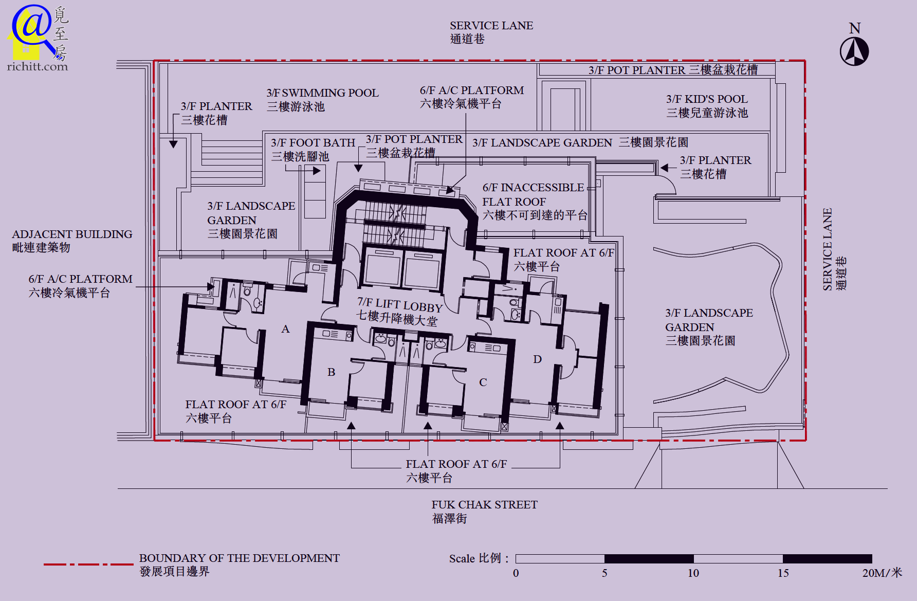 奧城‧西岸布局圖