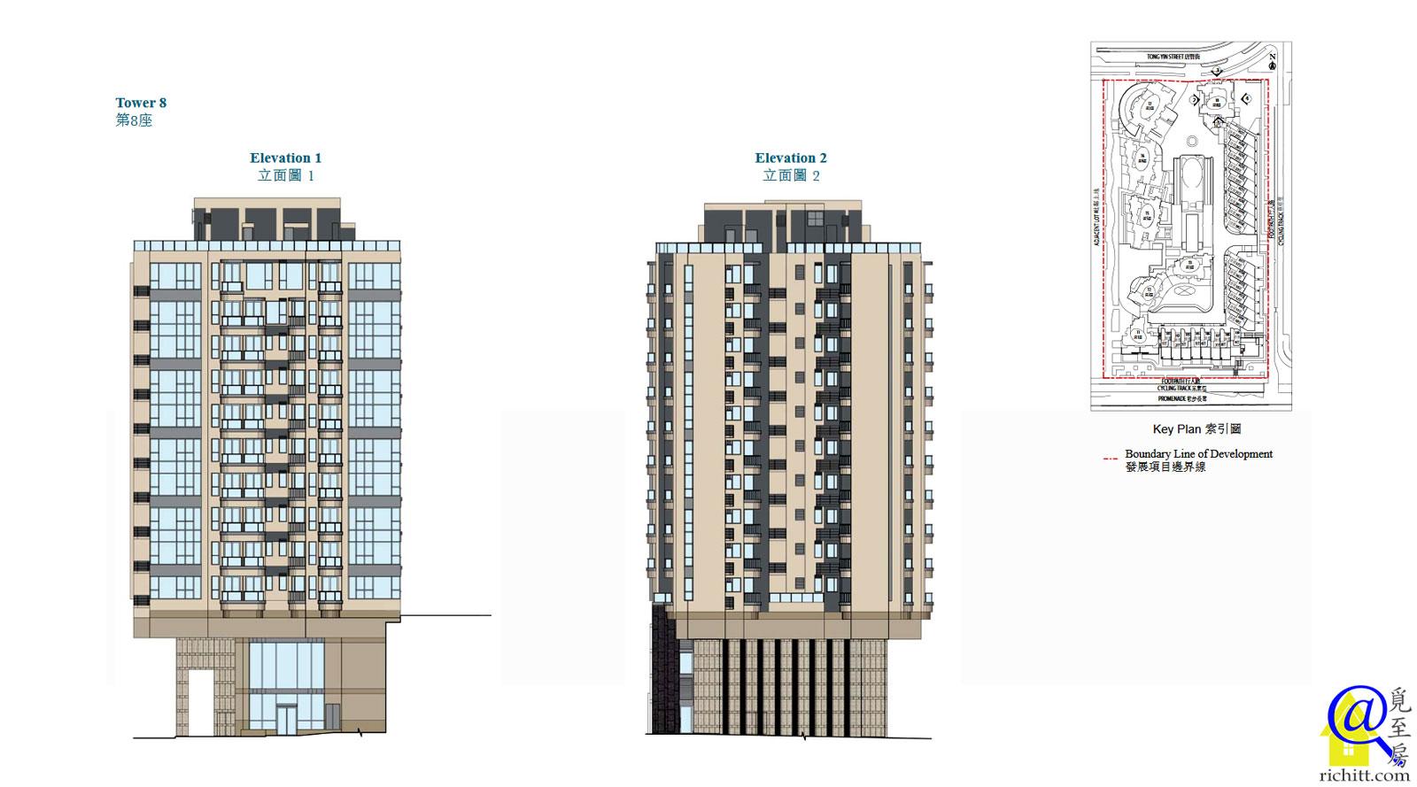 藍塘傲大廈立面圖8座