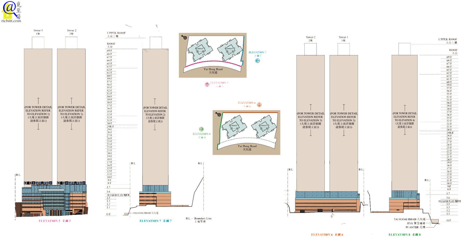 上林立面圖5至8
