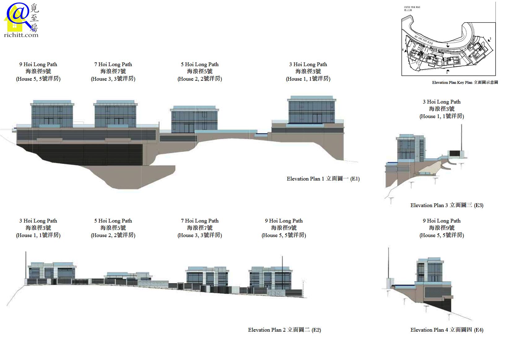海瀧珀立面圖