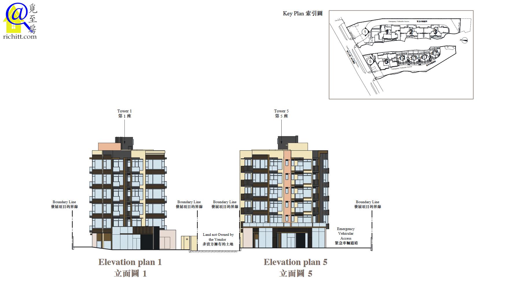 蔚林立面圖1及5