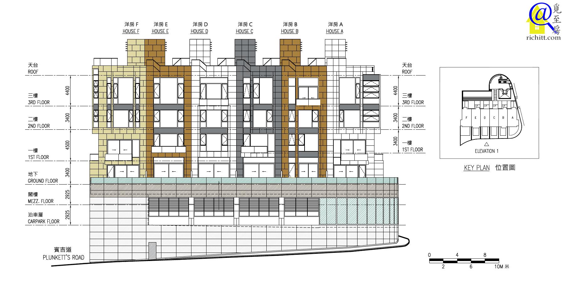 賓吉道3號立面圖1