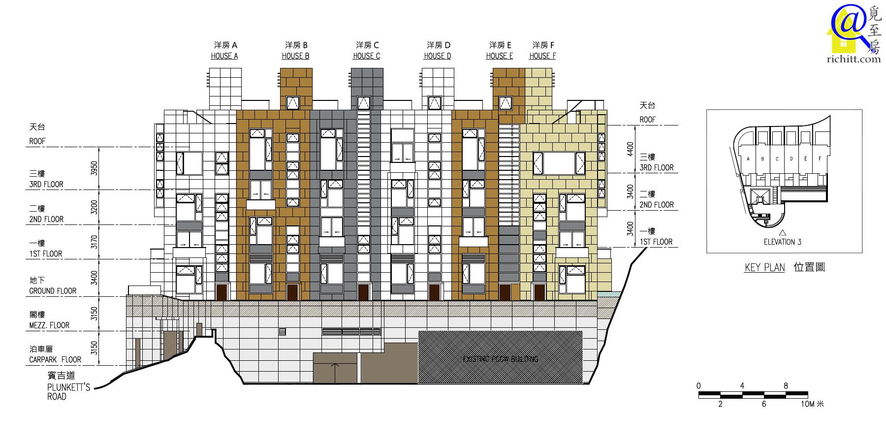 賓吉道3號立面圖3