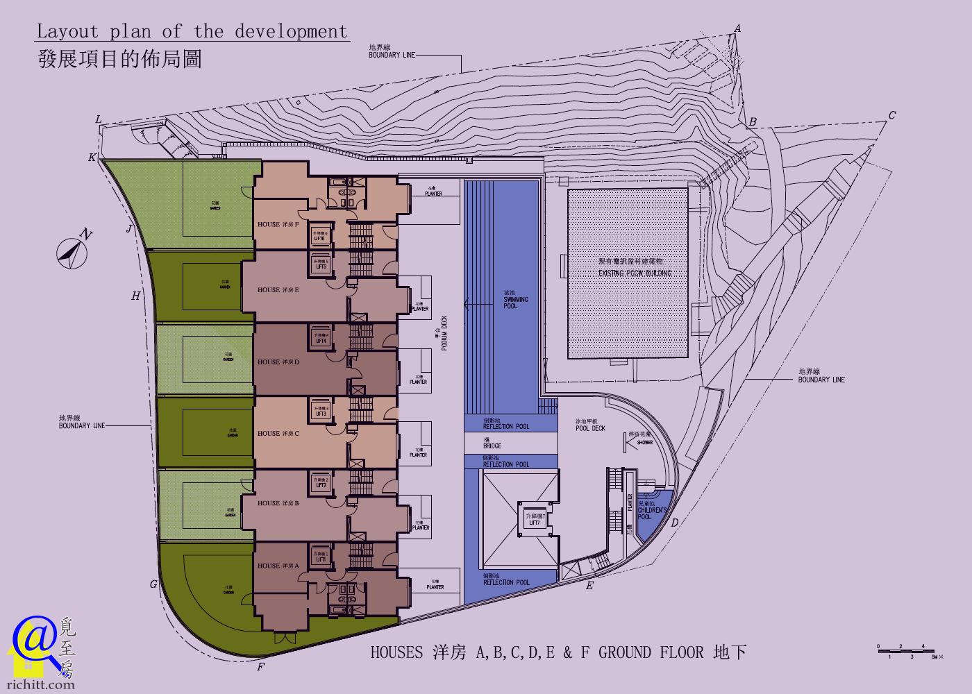 賓吉道3號布局圖-地下