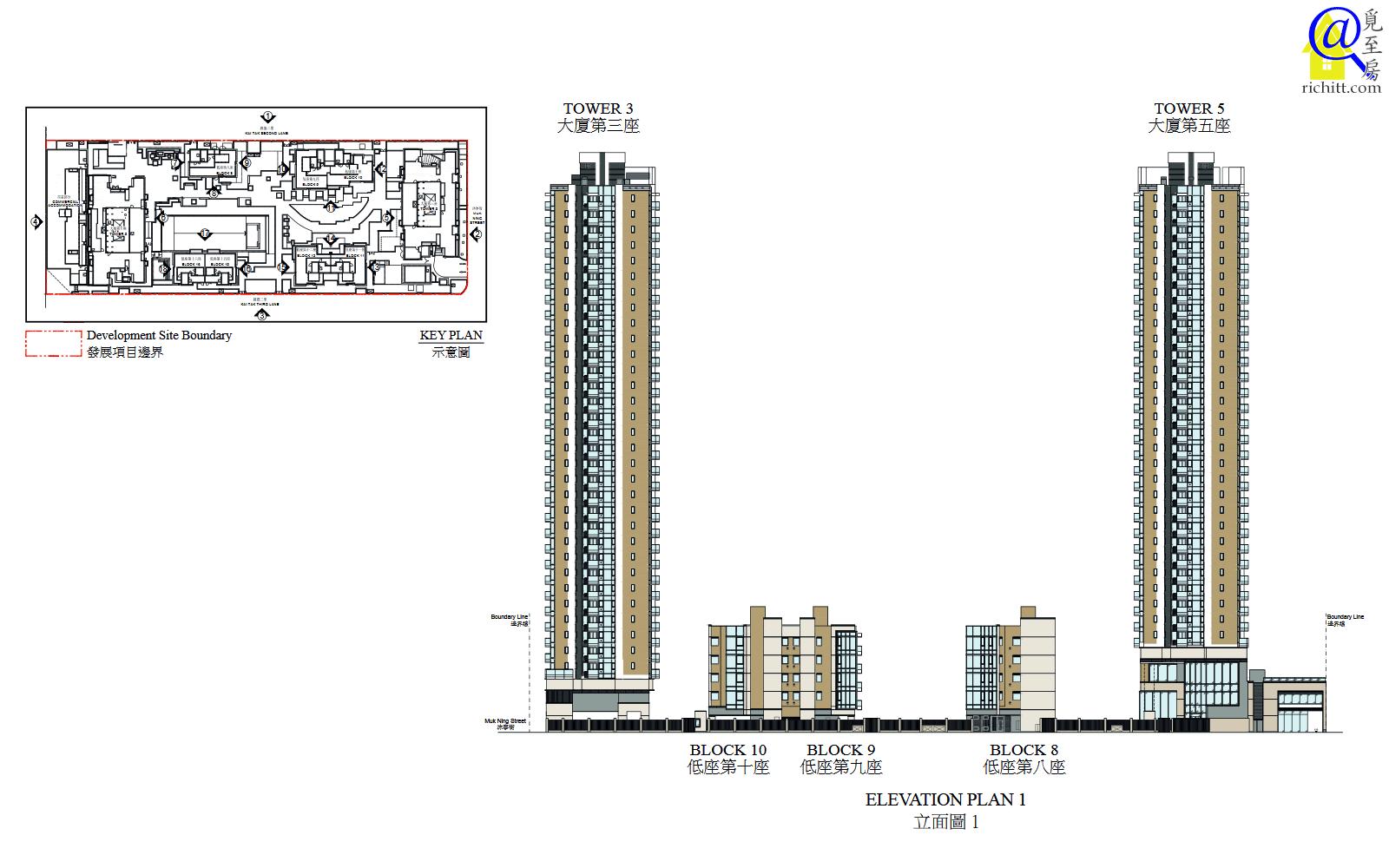 啟德1號(II)立面圖1