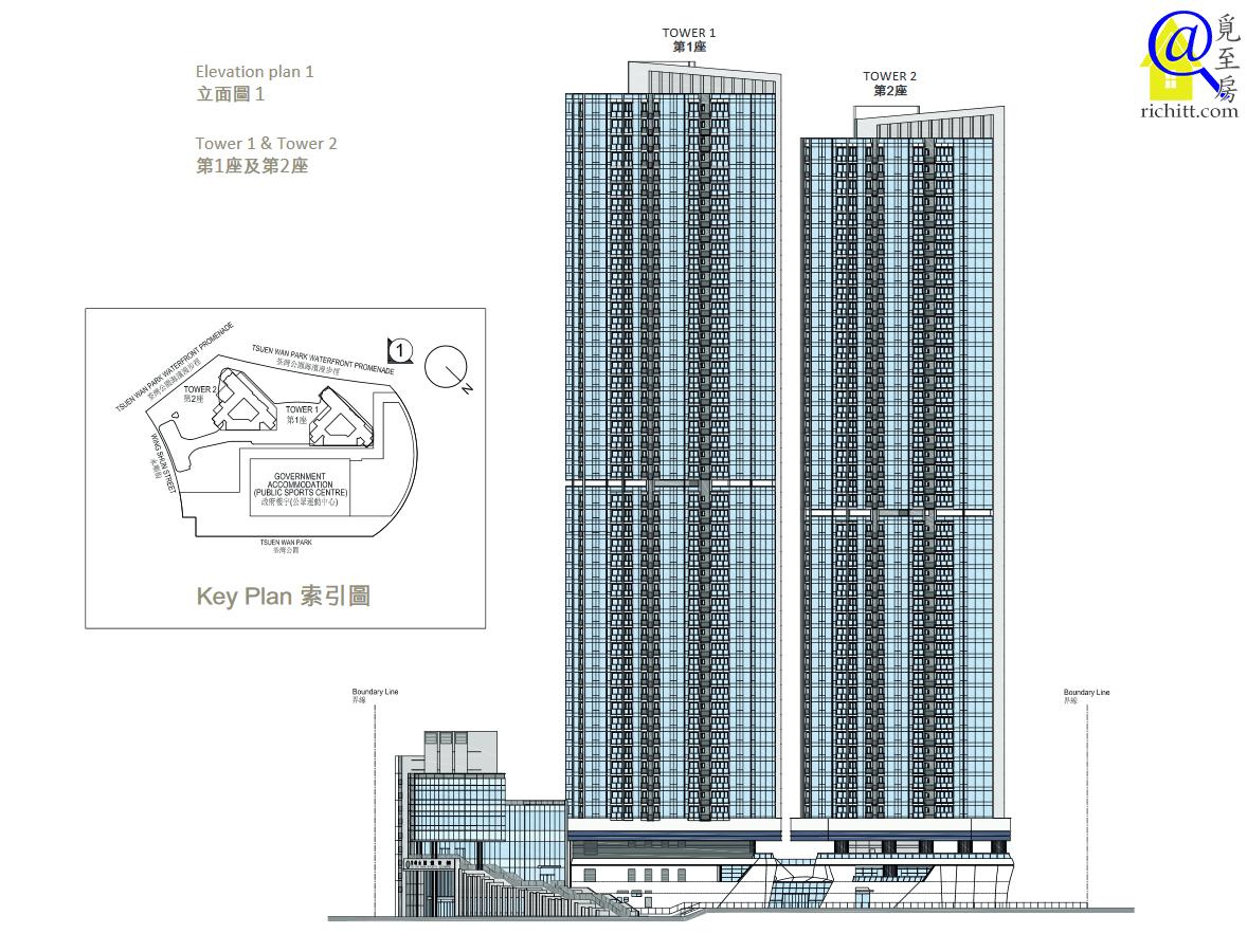柏傲灣屋苑立面圖1