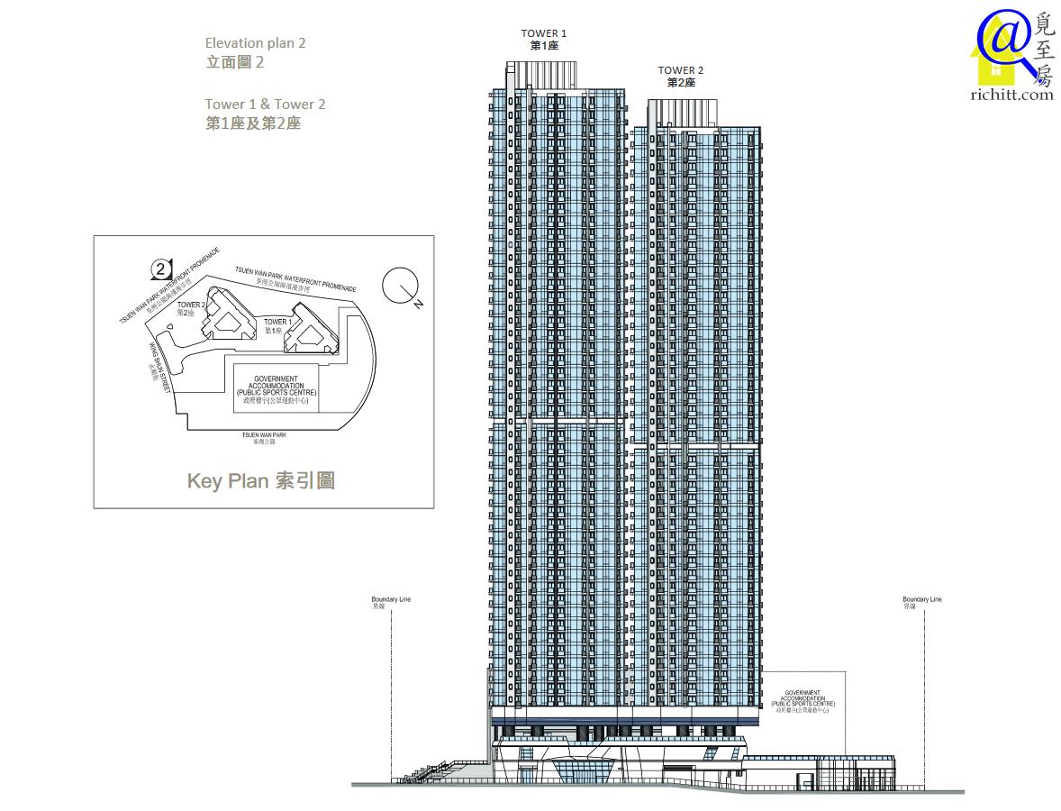 柏傲灣屋苑立面圖2