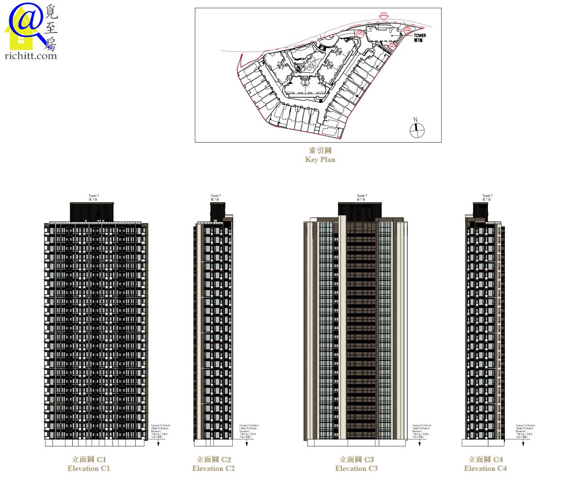 高爾夫•御苑大廈立面圖C