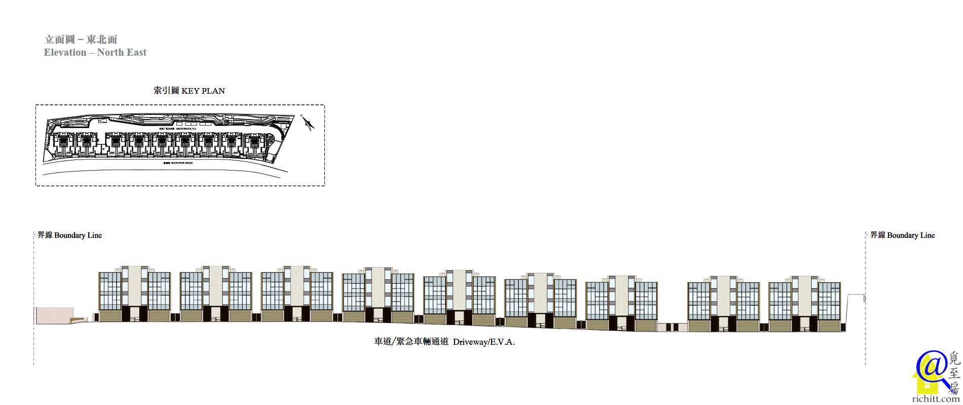 藍塘道 23-39立面圖-東北