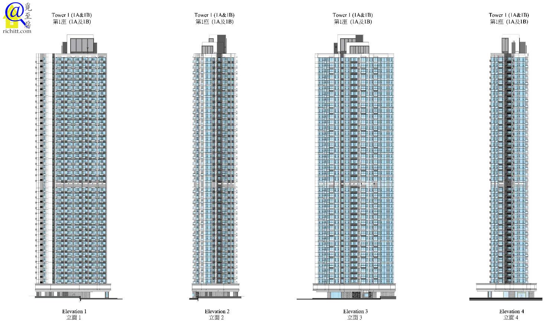 高座大廈立面圖1