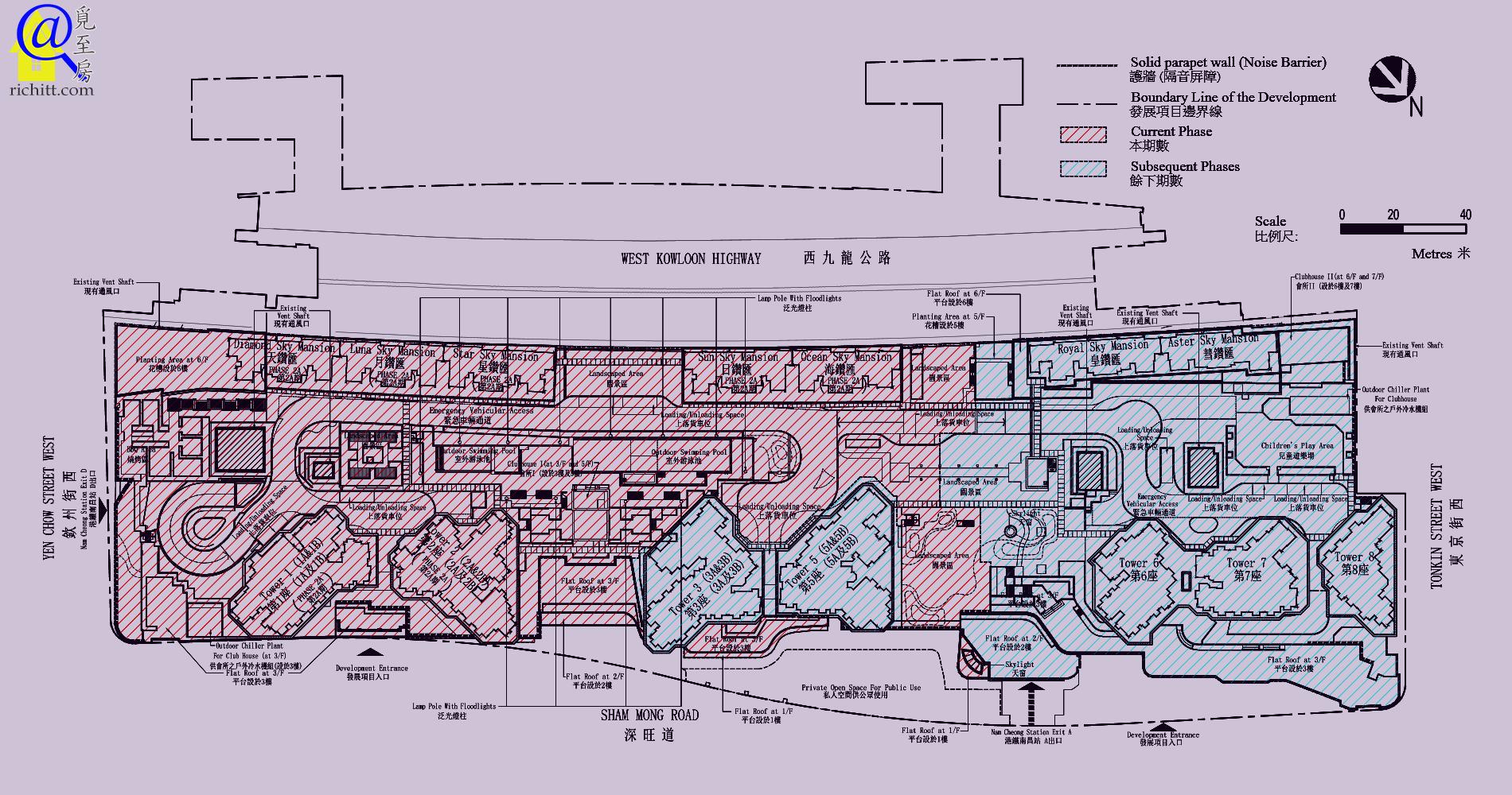 匯璽發展項目佈局圖