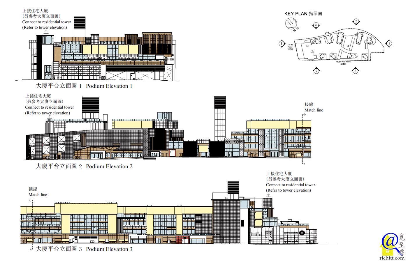 海之戀平台立面圖1至3
