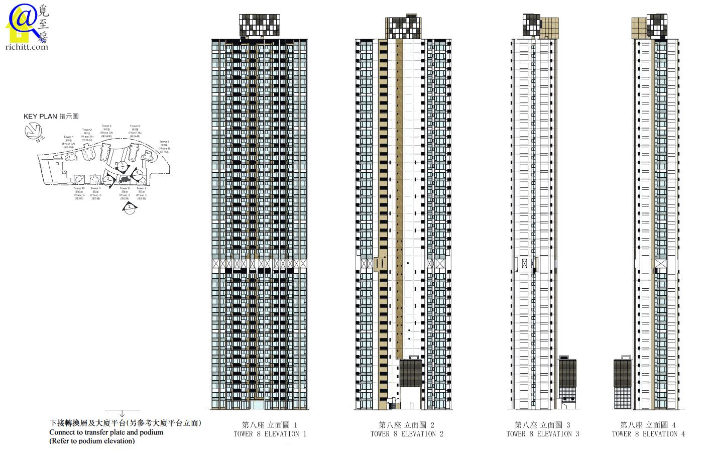 海之戀大廈立面圖-第8座