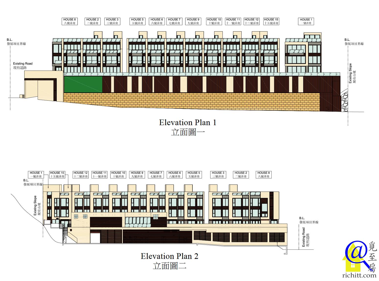 50 STANLEY VILLAGE ROAD 立面圖1及2