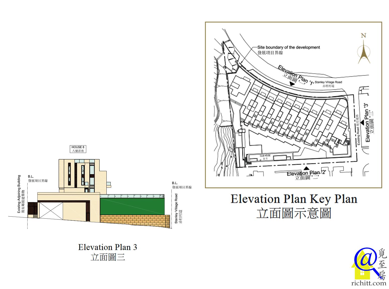 50 STANLEY VILLAGE ROAD 立面圖3及示意圖