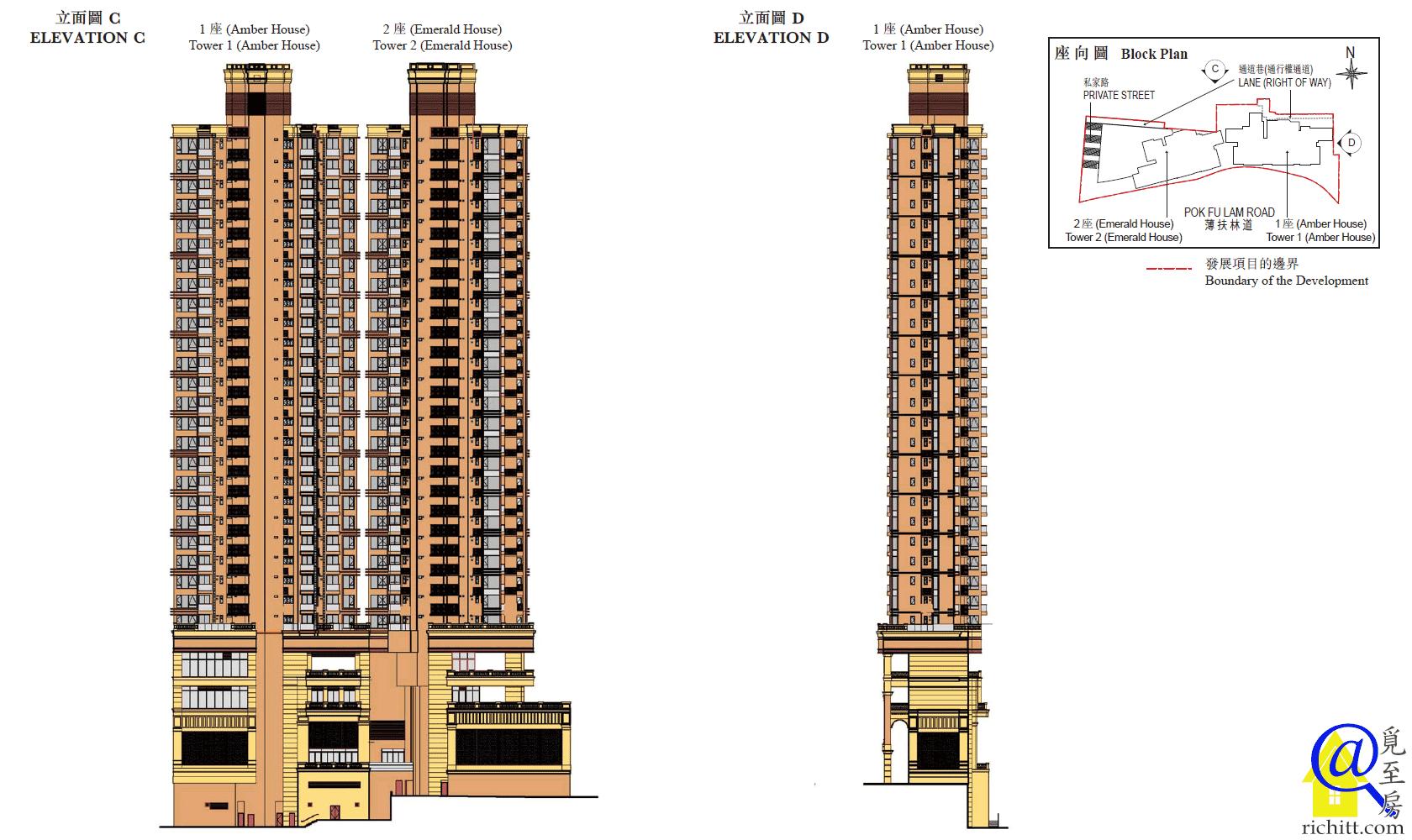 63 Pokfulam立面圖C及D
