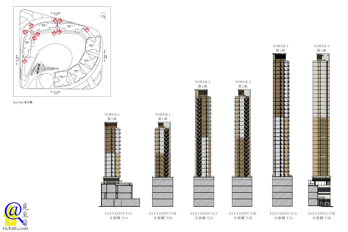 全‧城滙立面圖-第1至3座