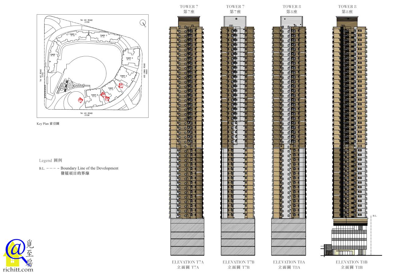 全‧城滙立面圖-第7及8座