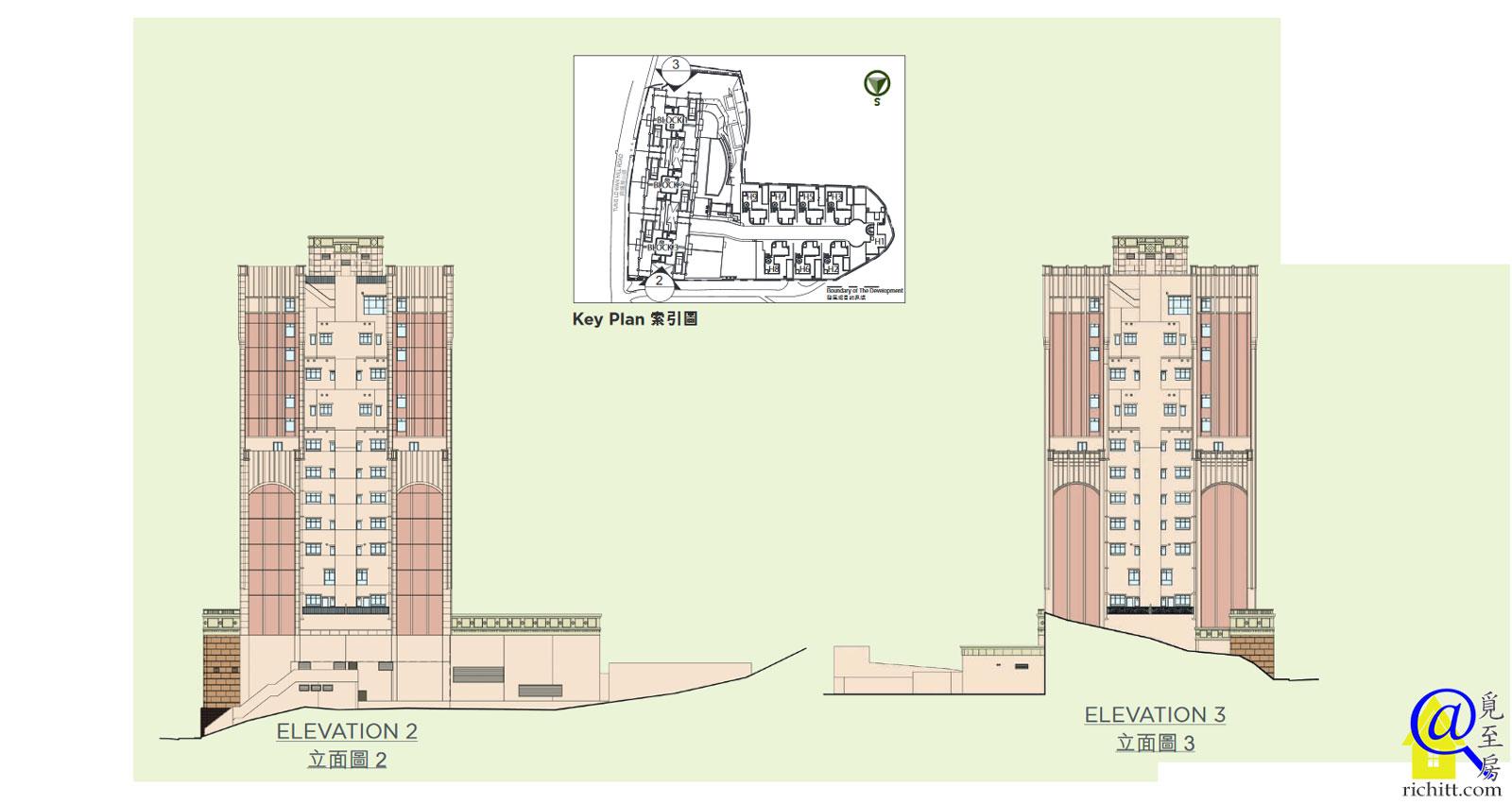 嘉御山分層大樓立面圖2