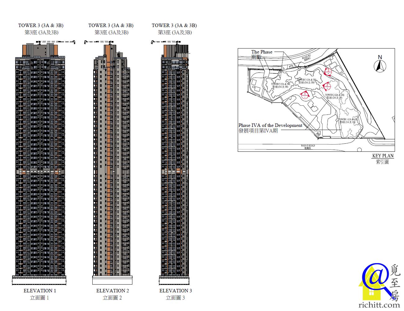 晉海II第3座立面圖1