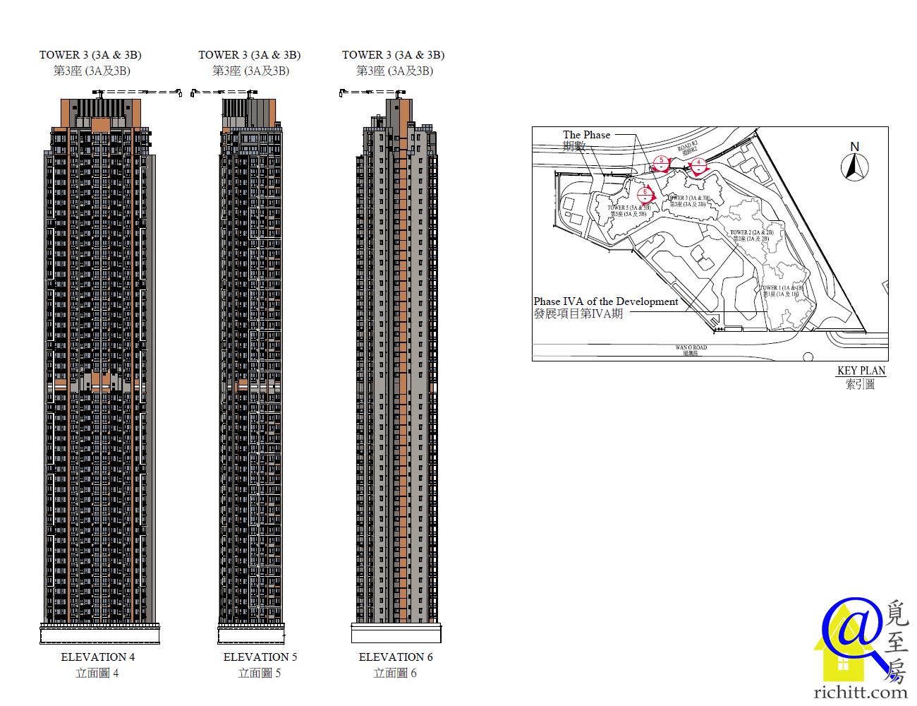 晉海II第3座立面圖2