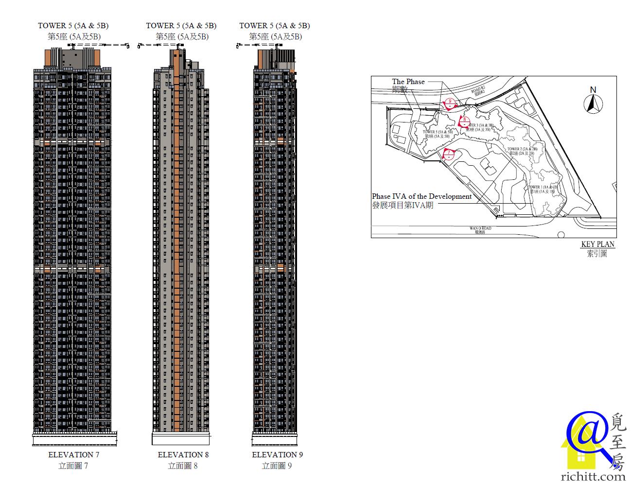 晉海II第5座立面圖1