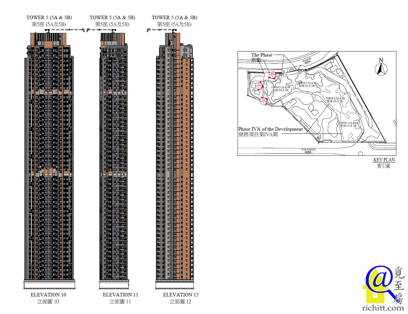 晉海II第5座立面圖2