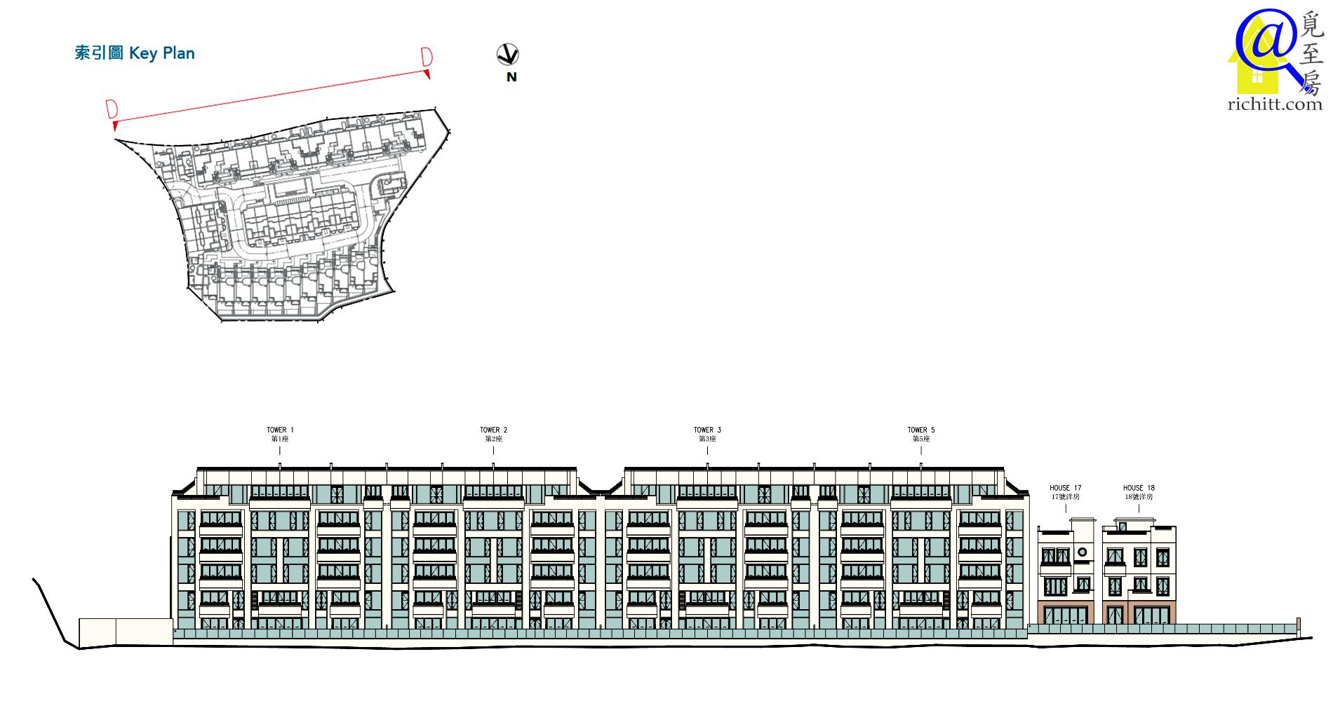 澐瀚住宅大樓立面圖