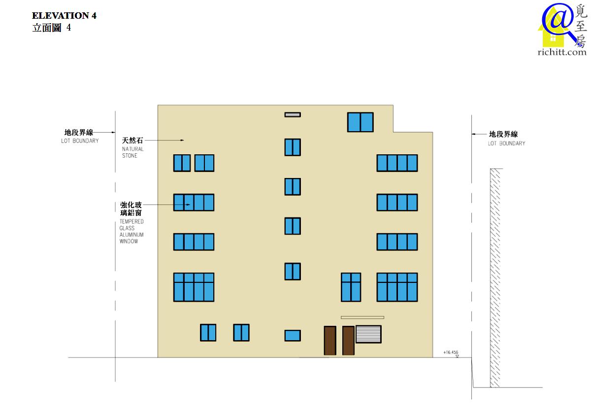 淺水灣道72號立面圖4