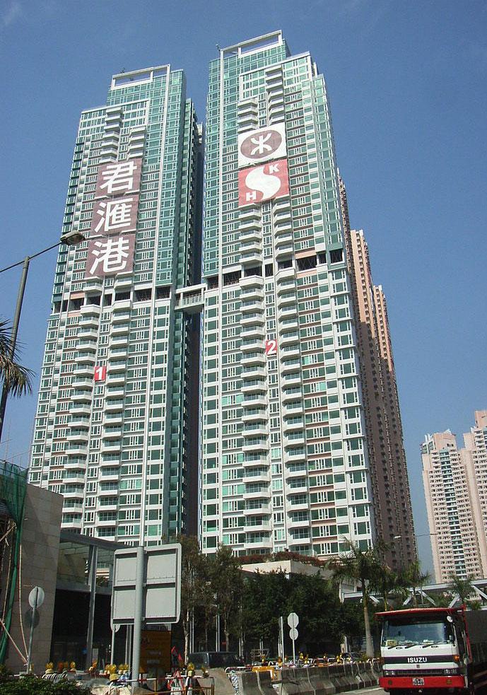 君匯港第1、2座外觀 - OLAMB作品 (維基百科)
