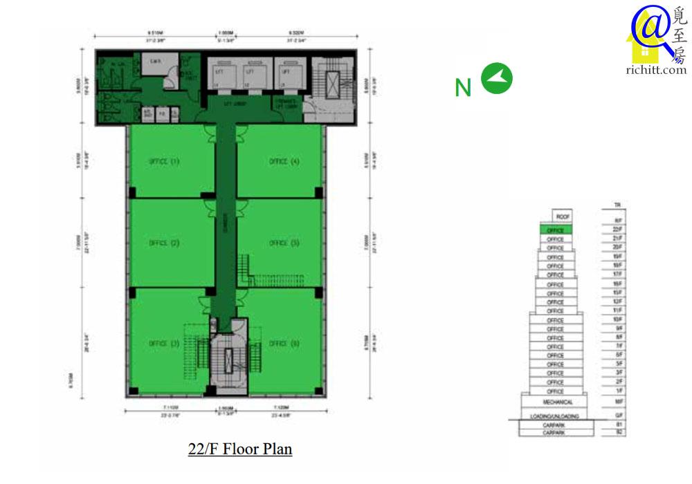 K83 22樓平面圖