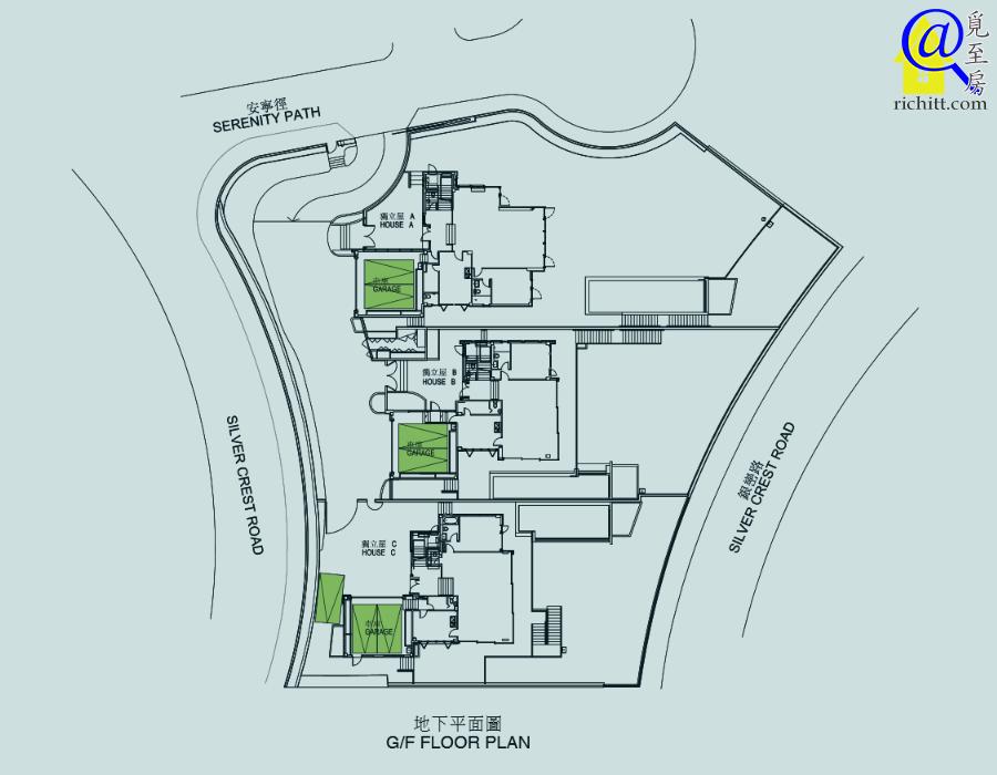 銀景峯車位位置圖